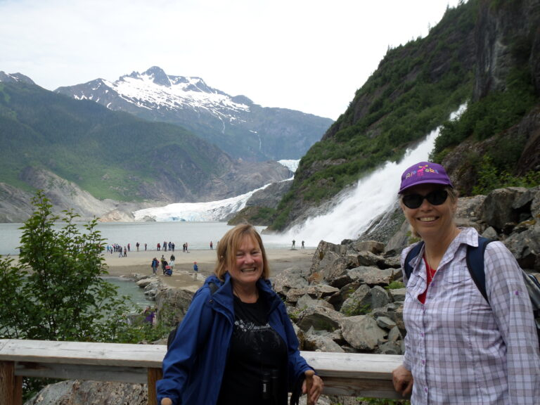 Mendenhall glacier and waterfall | Alaska Retreat