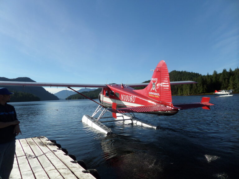 Arriving on a seaplane | Alaska Retreat